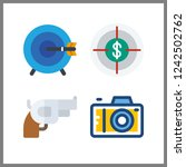 4 aiming icon. vector... | Shutterstock .eps vector #1242502762