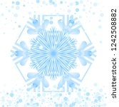 simple snowflake icon isolated...   Shutterstock .eps vector #1242508882