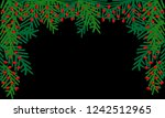 background with branches... | Shutterstock .eps vector #1242512965
