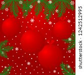 christmas background with red... | Shutterstock .eps vector #1242512995