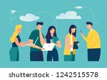 vector colorful illustration of ... | Shutterstock .eps vector #1242515578