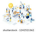 flat isometric vector business... | Shutterstock .eps vector #1242521362