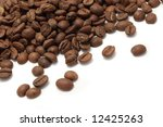 coffee beans background or... | Shutterstock . vector #12425263