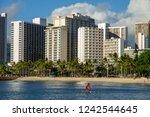 Stand up paddler in Waikiki