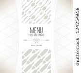 restaurant menu design | Shutterstock .eps vector #124254658