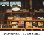 old transistor radio placed on... | Shutterstock . vector #1242552868