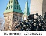 national war memorial of ottawa ... | Shutterstock . vector #1242560212