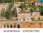 vintage old antique roman city... | Shutterstock . vector #1242567562