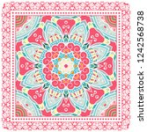 decorative colorful ornament on ... | Shutterstock .eps vector #1242568738