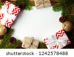 christmas background with... | Shutterstock . vector #1242578488