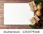 christmas background with... | Shutterstock . vector #1242579268