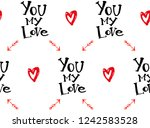 valentine's day repeated... | Shutterstock .eps vector #1242583528