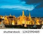 wat phra keaw is famous... | Shutterstock . vector #1242590485