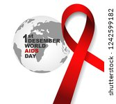 vector of world aids day symbol.... | Shutterstock .eps vector #1242599182