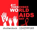 vector of world aids day symbol....   Shutterstock .eps vector #1242599185