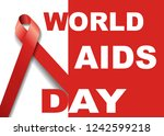 vector of world aids day symbol.... | Shutterstock .eps vector #1242599218