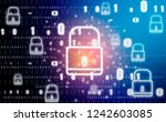 padlock graphic and symbol ... | Shutterstock . vector #1242603085