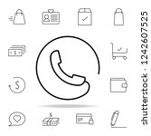 handset phone call icon. e...