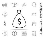 money bag icon. e commerce...