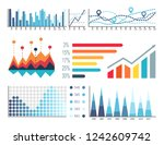 infographics and scales with... | Shutterstock .eps vector #1242609742