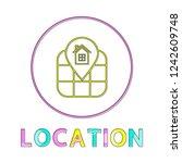 location identification service ... | Shutterstock .eps vector #1242609748