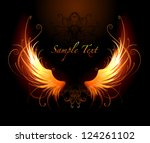 artistically painted fiery... | Shutterstock .eps vector #124261102
