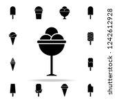 frozen balls in a saucer icon.... | Shutterstock .eps vector #1242612928