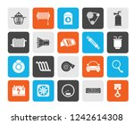 car part and services icons 2   ... | Shutterstock .eps vector #1242614308