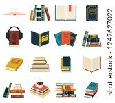 Set Of Book Icons In Retro...