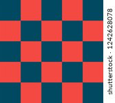 red and blue checkered... | Shutterstock .eps vector #1242628078