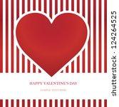 heart valentine's day card