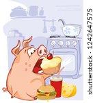 vector illustration of a cute... | Shutterstock .eps vector #1242647575