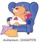 vector illustration of a cute... | Shutterstock .eps vector #1242647578