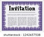 violet formal invitation.... | Shutterstock .eps vector #1242657538