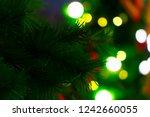 closeup of christmas tree... | Shutterstock . vector #1242660055