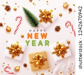 happy new year modern... | Shutterstock .eps vector #1242670942