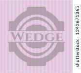 wedge pink emblem. vintage.   Shutterstock .eps vector #1242671365