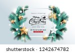 vector merry christmas and... | Shutterstock .eps vector #1242674782