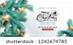 vector merry christmas and... | Shutterstock .eps vector #1242674785