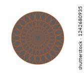 circle pattern for decoration... | Shutterstock .eps vector #1242680935