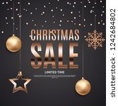 christmas and new year sale... | Shutterstock .eps vector #1242684802