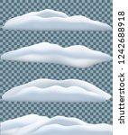snowbank set isolated on... | Shutterstock .eps vector #1242688918