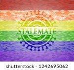 stalemate emblem on mosaic... | Shutterstock .eps vector #1242695062