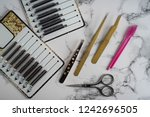 instruments  beauty and fashion ... | Shutterstock . vector #1242696505