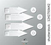 white infographic arrows with 4 ... | Shutterstock .eps vector #1242703642
