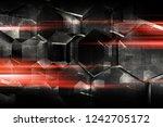 abstract dark digital... | Shutterstock . vector #1242705172