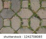 floor tiles useful texture with ... | Shutterstock . vector #1242708085