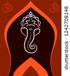 ganesha the lord of wisdom... | Shutterstock .eps vector #1242708148
