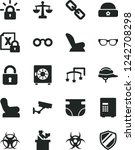 solid black vector icon set  ... | Shutterstock .eps vector #1242708298