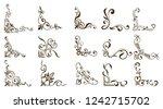 ornamental borders and flourish ... | Shutterstock .eps vector #1242715702